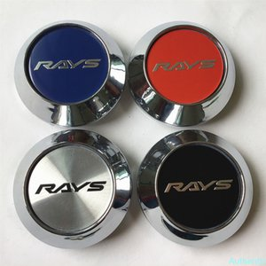 4pcs 68mm For RAYS Wheel Center Cap Hubs Car Styling Emblem Badge Logo Rims Cover 45mm Stickers Accessories