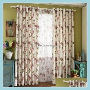 Curtain Drapes Deco El Supplies Home & Gardenpastoral Cotton Printing Living Dining Room Art Korean American Country Curtains For Bedroom Fa