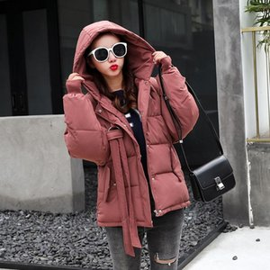 Women's Trench Coats Casual Solid Woman Short Winter And Jackets Wide-waisted Full Sleeve Cotton Padded Jacket Hooded Pockets Parkas Mujer 2