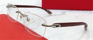 fashion design optical glasses 0052O square rimless frame transparent lens business style vintage and simple eyewear