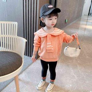 Kids Sweatshirt Striped Girls Long Sleeve Clothes for Fall Children's Clothing Baby Girls Sweatshirts 210412
