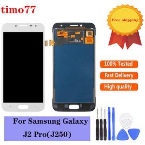 Süper OLED İçin Samsung Galaxy J250 Lcd J2 Pro J250M J250F Lcd Ekran, Dokunmatik Ekran Digitizer Meclisi temperli cam ile değiştirin.