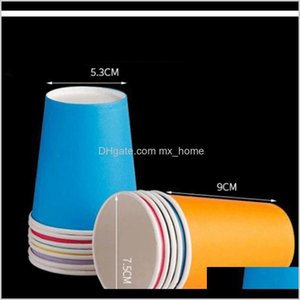 Sts 10Pcs Pure Colour Party Disposable Paper Cups Juice Cup Diy Decoration Baby Shower Kids Birthday Wedding Picnic Tableware Supply F Jznuw