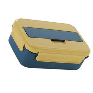 Sealed Mess Tin Separating Cases Food Fashion Lunch Container Bento Box with Lid for School Work (blue)