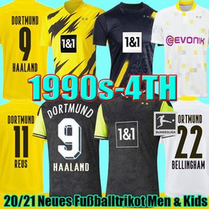 1990 maillot de football édition limitée HAALAND REUS Borussia 21 22 4e dortmund 2021 maillots de football BELLINGHAM SANCHO HUMMELS BRANDT PLSZCZEK hommes kit enfants Uniformes