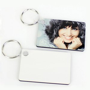 Blank Keychain for men women Party Favor Sublimation Designer Bags Pendant DIY Gift Key chain Ornament MDF Coated Board Double-sided Heat Transfer Keychains