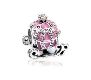 Подходит для браслетов Pandora 30 шт. Принцесса тыквенные каретки чарки бусины серебряные подвески для женщин DIY европейские ожерелье ювелирные изделия