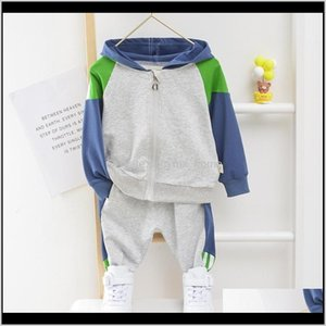 Clothing Sets Toddler Hooded Clothes 1 2 3 4 5 Cotton Baby Girl Sport Suit Boy Infant Long Sleeve 15 Years Spring Autumn Tracksuit 201 U8Osm