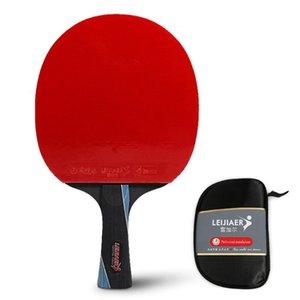 Table Tennis raquets المهنية بونغ مجداف مضرب جودة طويل مقبض