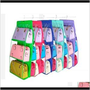 Holders Racks Three Layer Multilayer Hanging Bag Storage Closet Display Cloth Rack Anti Dust Mivtb Wm2Ap