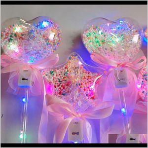 Favor Event Festive Supplies Home & Garden Drop Delivery 2021 Princess Light-Up Ball Wand Glow Stick Witch Wizard Led Magic Wands Halloween C