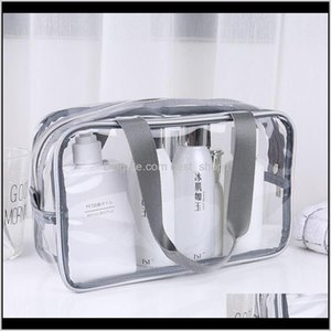 Storage Transparent Pvc Travel Organizer Clear Makeup Beautician Cosmetic Beauty Case Toiletry Bag Make Up Pouch Wash Bags Vt0077 1Dkx Zp59H