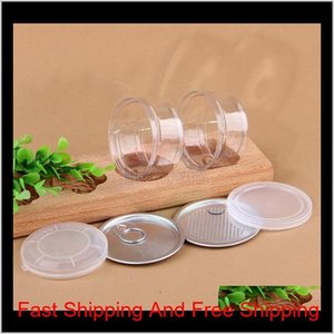 Bottles Jars Clear Plastic Jar Pet With Metal Lid Airtight Tin Can Pull Ring Bho Oi Concentrate Container Food Herb Storage 100Ml Hwf1 50Lp8