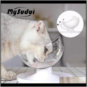 Mysudui antideslizante tazón para perros plato mascota redondeado gato separable dispensador de agua gatos cuencos alimentadores mascotas Dla PSA V48OZ Uyaaf