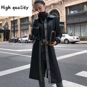 Coats Sheepskin Real For Women Fashion Genuine Leather Jacket Spring Autumn Jackets Long Trench Female Outerwear OT2922 Women's & Faux