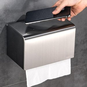 Tissue Boxes & Napkins 304Stainless Steel High Quality Toilet Paper Roll Holder Wall-Sticking Towels Container For Bath