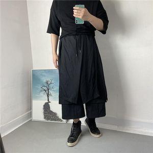 Art Trend Men's Yamamoto Yaosi Темные брюки Японская персонализированная юбка Capris