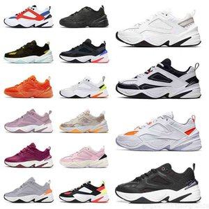 Klassische Trainer Sport Sneakers M2K Tekno Laufschuhe Retro Herren Womens Partikel Beige Pflaume Kreide Hyper Cimson Electric Volt Orange