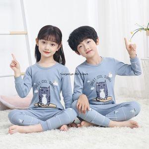 Pajamas Baby Boys Clothes Teenage Girls Sets Children Long Sleeve Cotton Soft Kids Homewear Winter For Teens Pyjamas
