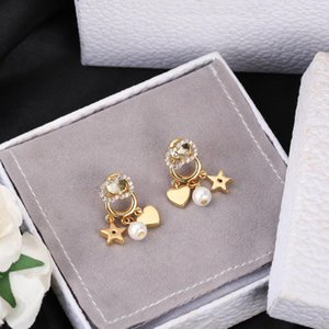 2021 designers Stud women's pearl Earrings Classic letter Ear men Earring Gold Silver Jewelry Accessories High quality fashion Gift for Girls with Box