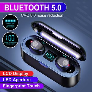 Original Wireless Earphones Bluetooth V5.0 Earbuds Headphone Cell Phone Earphone LED Display Touch Control Stereo With 2000mAh Charge Station Headset Microphone