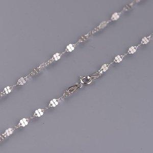 Silber Sterling Mode Weibliche Modelle Kleines frisches Temperament Twisted Piece Halskette Anhänger Großhandel Ketten