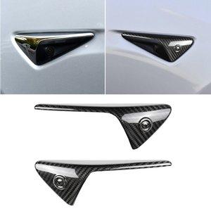wtyd for stickers 2 PCS Tesla Model 3 Carbon Fiber Car-Styling Fender Bumper Decorative Strip