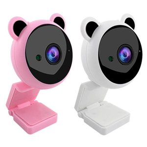 Camcorders 2MP HD 1080P Pink USB Webcam Night Vision Computer Web Camera For Live Broadcast Autofocus In Mic Video