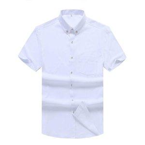 Плюс размер 5xL 6XL 7XL 8XL 10XL мужская деловая повседневная рубашка с коротким рукавом сплошной цвет Свободные черные белые мужские бренд одежды свитера