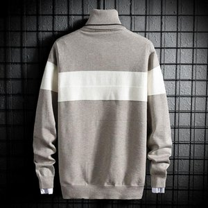 Winter Fashion Mens Christmas Sweater Turtleneck Sweaters Slim Fit Knitted Jumper Men Tops Male Soft Warm Pullovers