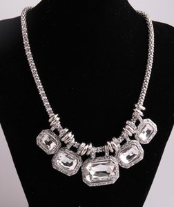 Arrival Fashion Maize Chain Five Glass Crystal Necklaces For Women Pendant