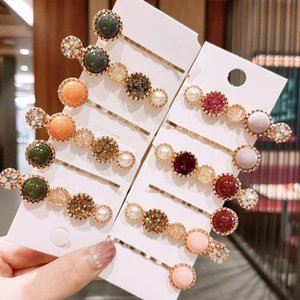 Handmade Pearls Hair Clips Pin For Women Fashion Geometric Flower Barrettes Headwear Girls Sweet Top Clip Accessorie Accessories