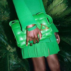 Top Quality Handbag Knitting lady bags Gold finish metal woven Handbags Women fashion Classic wild Crossbody 2021 SS Ladies Braiding Single shoulder bag