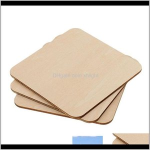 Arts And Arts, Crafts Gifts Home & Garden Drop Delivery 2021 Square Rec Unfinished Wood Cutout Circles Blank Wooden Slices Pieces For Diy Pai