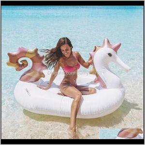 Floats Hippocampi Design Huge Inflatable Tubes Swimming Ring For Sea Sun Bath Pegasus Floating Mat Pool Decor High Quality 89Xh Iobfs 8Wg4O