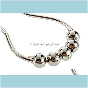 Other Building Supplies Home & Gardenantirust Calabash With 5 Ball Stainless Steel Chrome Plated Shower Bathroom Living Room Curtain Rings H