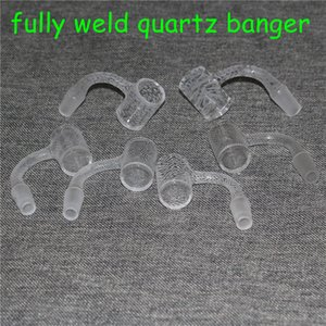 20pcs Smoking Fully Weld Sandblasted Quartz Banger 14mm male domeless nails for bongs Dab Rigs Glass Bubble Carb Caps Silicone Nectar Collectors DHL