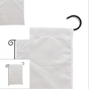Boş Süblimasyon Bahçe 100% Polyester Boş Beyaz Banner Bayrakları Çift Taraflı Baskı Isı Transfer Baskı Bahçe Banner * 35 cm 567 R2