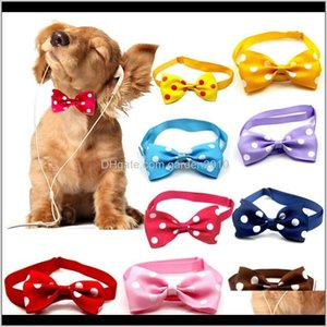 Collars Leashes Lovely Christmas Holiday Collar Bow Tie Adjustable Neck Strap Cat Dog Grooming Accessories Pet Product Supplies Fes7S Qk0Ux
