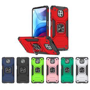Celular Anel Robot Kickstand Telefone Capas telefônicas para Samsung S21ultra Plus Moto G G9 G8 E7 Potência 2021 Play Stylus Bracket com magnética