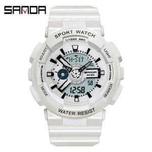 Sanda Korean version multifunctional luminous electronic waterproof sports tide Student candy children's Watch