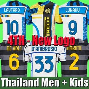 Maglia da calcio INTER MILAN 2020 2021 LUKAKU MILAN VIDAL BARELLA LAUTARO ERIKSEN ALEXIS HAKIMI 20 21 divise maglia da calcio uomo + kit bambini 4 ° quarto