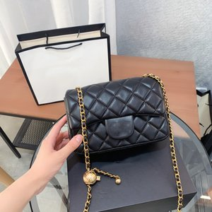 Designer Bags Handbag Totes Shoulder Cross Body Women High Quality Classic Caviar Square Sheepskin Chains bag 6 color luxury_bagshop888 01 12