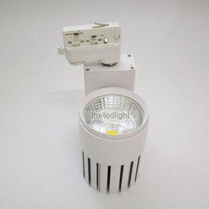 0-10V DIMMABLABLE TRACK LED 20W 4 fil 3 Spot de rail de phases 30 pcs chaud / jour / pure blanc Luz del Punto Lights