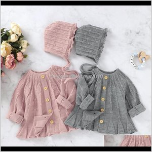 Jackets&Hoodies Childrens Athletic Outdoor Apparel Baby, & Maternity Drop Delivery 2021 Spring Autumn Baby Boys Girls Pure Color Knit Jacket