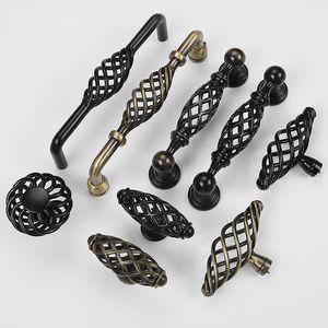 Handles & Pulls Bronze Birdcage Handle Hollowed Out European Black Single Hole Cabinet Wardrobe Door American Furniture