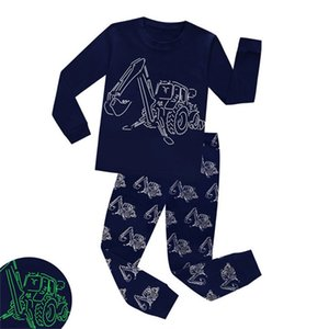 Fashion Glow in the Dark Dinosaur Boys Pajamas Children Dragon Night Wears Glow in Dark Pyjamas Kids Pijamas Infantil 2-8Yrs W1222 659 Y2