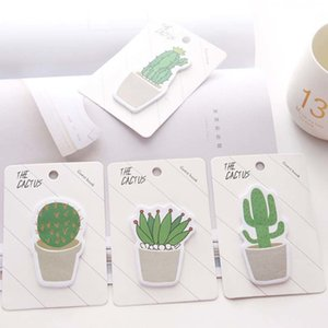 Cute Cactus Memo Pad Sticky Note Sticker Memo Book Note Paper N Stickers Stationery Office Accessories School Supplies
