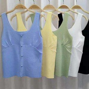 Knitted Buy Pleated Vest Summer Women's Sleeveless Undershirt APKH