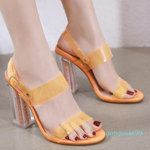 Spring Shoes Sandals Straps Summer Heels 2021 Women's Suit Female Beige Girls High Gladiator Elastic Band New Black Plastic Com
